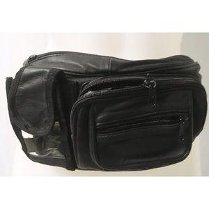Black Leather Vintage Fanny Pack